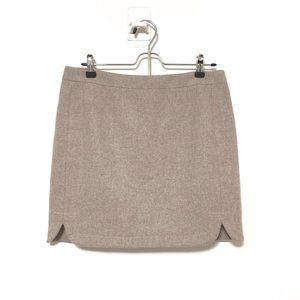 J Crew wool skirt tan Sz 6 style B0358